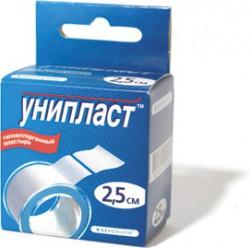 Лейкопластырь, Унипласт р. 2.5смх500см №1 на тканевой основе