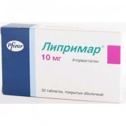 Липримар, табл. п/о пленочной 10 мг №30